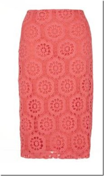 New Look pencil lace skirt